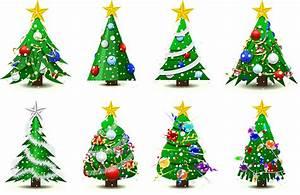Gorgeous christmas tree vector Free Vector / 4Vector