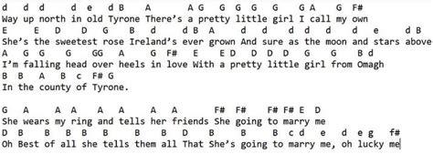 pretty  girl  omagh chords  lyrics irish