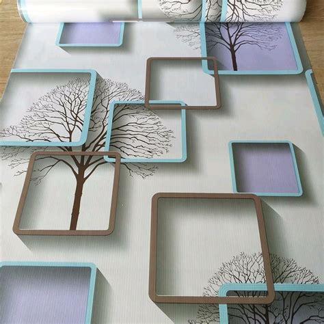 jual wallpaper sticker kotak kotak  biru   lapak