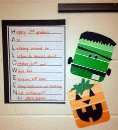 freebie skeleton acrostic poem page classroom ideas