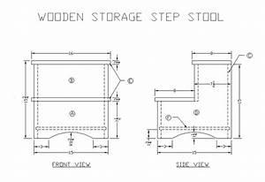 Build DIY Woodworking plans folding step stool PDF Plans