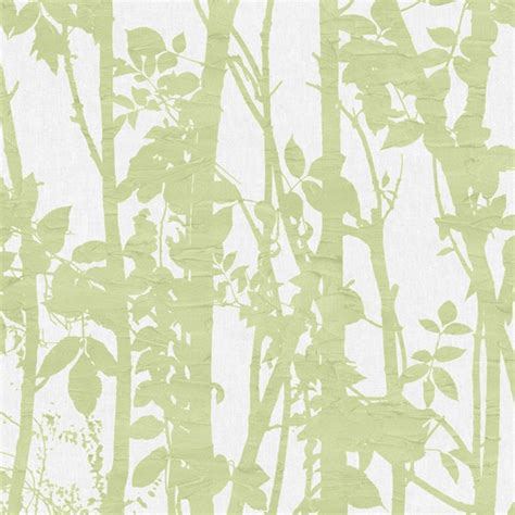 fresco fabric branches green   wallpaper