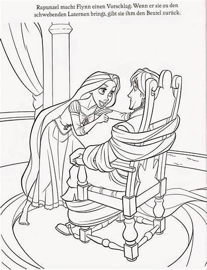 Coloring Tangled Pages Rapunzel Printable Gothel Pascal