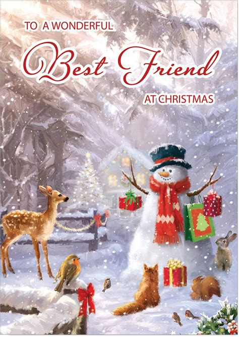 You've landed on the best christmas card idea, picked out the perfect photo, have your mailing list ready to go, and now it's time to write your you can lean into references for the christmas season if you're sending cards to friends and family who celebrate the holiday. Best Friend Christmas Card - Forest Friends - Gloss Medium Sized Card (A5 Size -148mm x 210mm ...