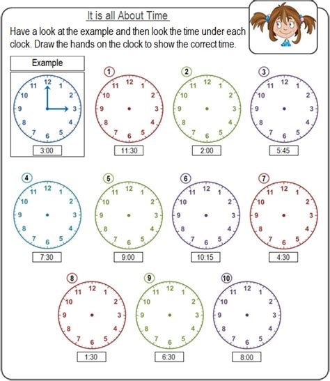 time worksheets for kids edu resource com