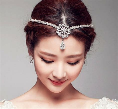 Wedding Hair Accessories by Wedding Bridal Forehead Hair Accessories Tiara Rhinestone