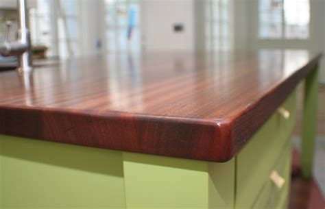 Sapele Mahogany Wood Counter in Auburndale Massachusetts