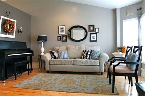 beige and blue contrast walls   color on the couch wall