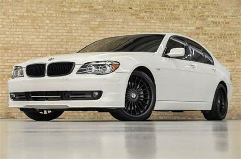 Sell Used 2007 Bmw 750i Alpina B7! Rare White! Rear Dvd