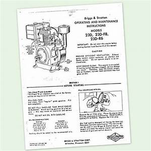 Briggs And Stratton Model 23d 23d