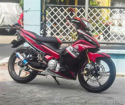 Modif Jupiter Mx Warna Merah by Modifikasi Warna Jupiter Mx Merah Modifikasi Motor Terbaru