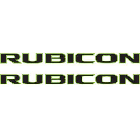 jeep wrangler rubicon logo rubicon hood decal blk lime alphavinyl
