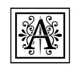 Free Printable Monogram Alphabet Letter Stencils