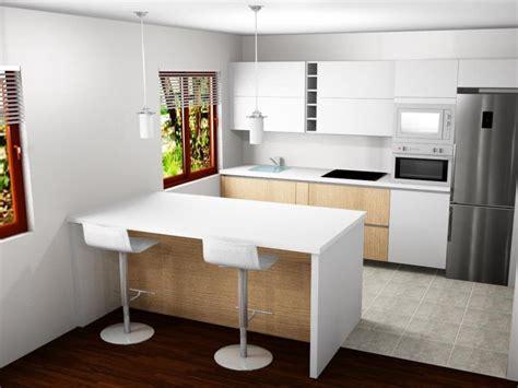 cocina  barra abierta al salon comedor reformas