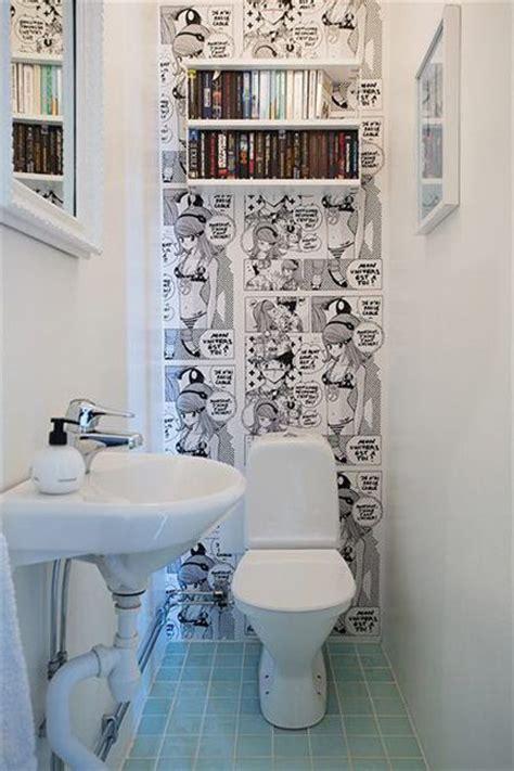 papier peint pour toilettes inspiration d 233 co pour les petits coins cocon de d 233 coration le