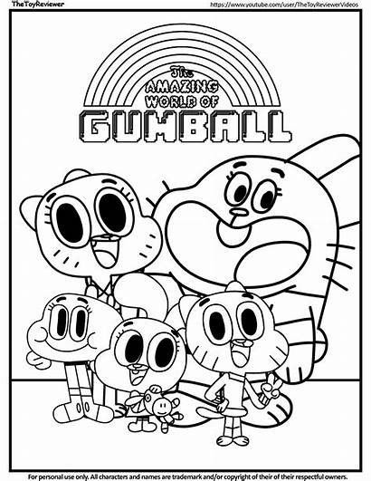 Coloring Printable Gumball Amazing Pages Colouring Mundo