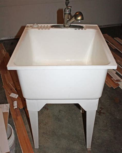 plastic utility sink with drainboard plastic utility sink with legs