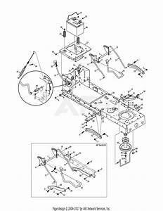 Troy Bilt 13wx79kt011 Horse Xp  2011  Parts Diagram For Frame  U0026 Pto Lift