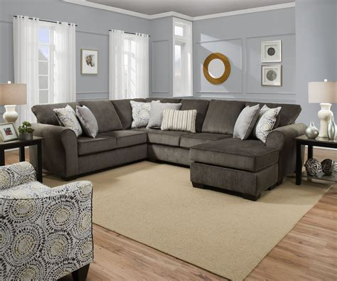 harlow ash chaise sectional  furniture place