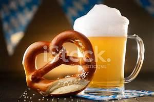 Fresh Beer With Pretzel Oktoberfest stock photos ...