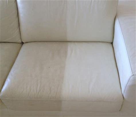 nettoyer un canapé cuir blanc nettoyage de divan en cuir blanc protégé le cuir sera
