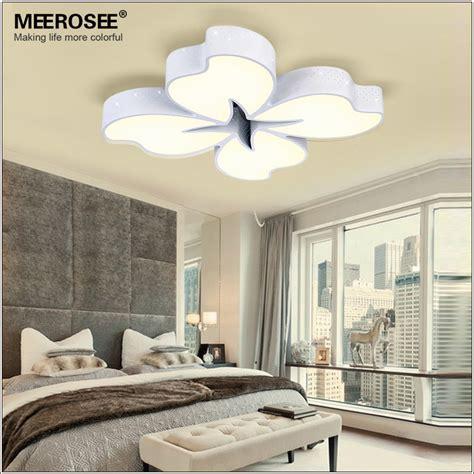 meerosee 54 watt white metal base led ceiling light flower