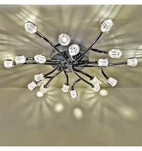 Plafonnier Design Led : plafonnier led design 18 branches karen ~ Melissatoandfro.com Idées de Décoration