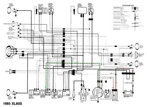 wiring diagram honda xl80s 1985 circuit schematic 59074