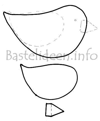 fruehlingsbasteln vogel bastelvorlage