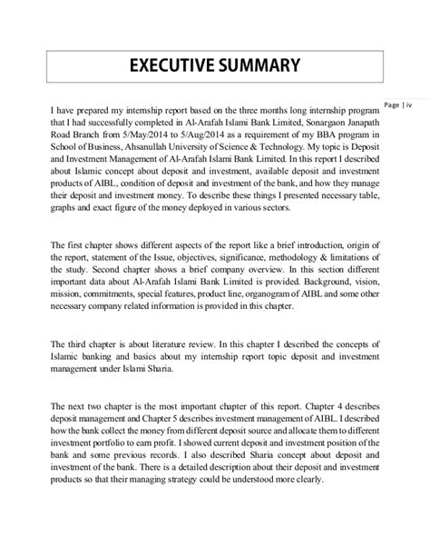 writing an executive summary for a report an executive