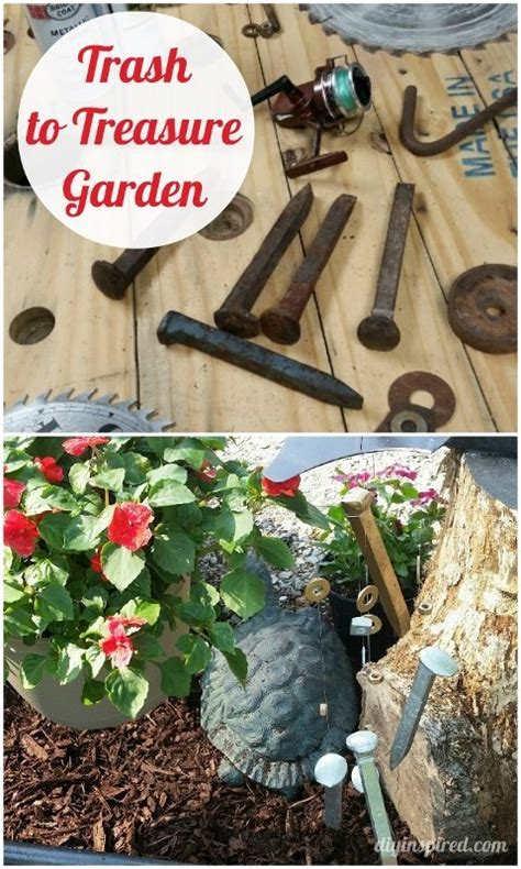 trash  treasure garden decor diy inspired