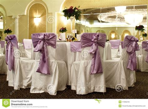 wedding tables and chairs wedding table and chairs in a banquet ballroom stock photo