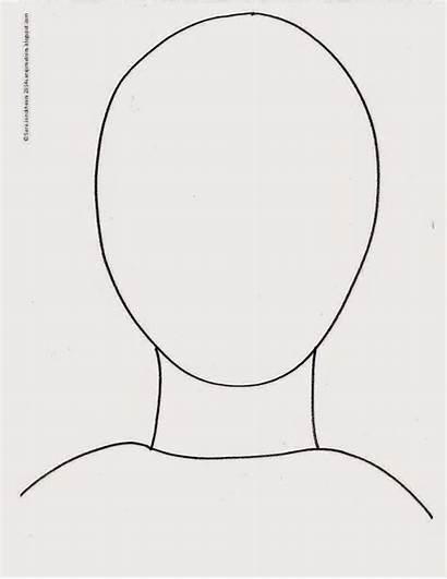 Template Outline Face Myself Self Portrait Activities