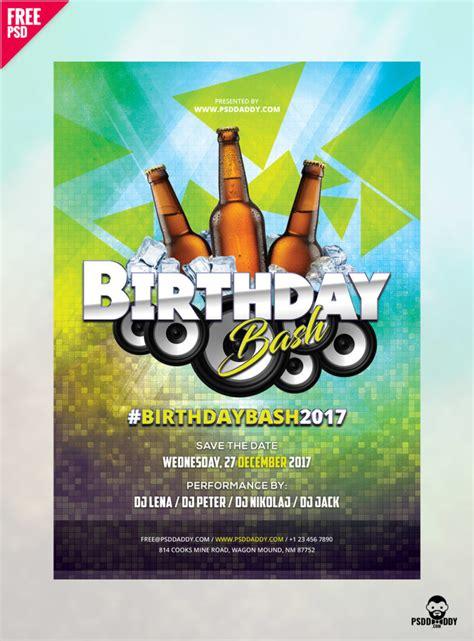 birthday flyer  psd psddaddycom