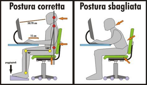 Postura Corretta Scrivania by La Postura Corretta Alla Scrivania Idee Green