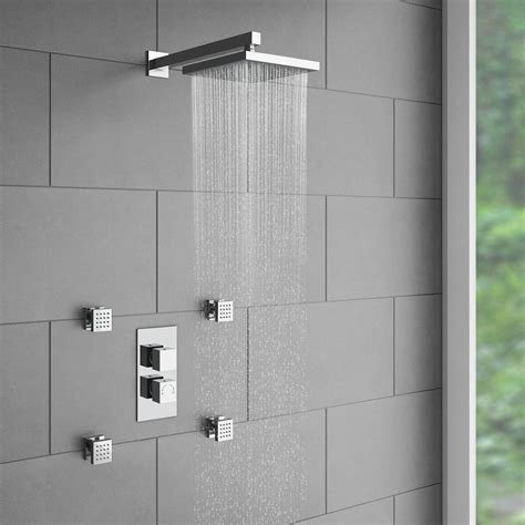 Jet Shower Units by Milan Concealed Thermostatic Valve With Diverter 4