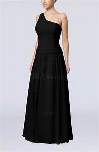 black elegant sheath zipper chiffon floor length wedding With floor length dress wedding guest