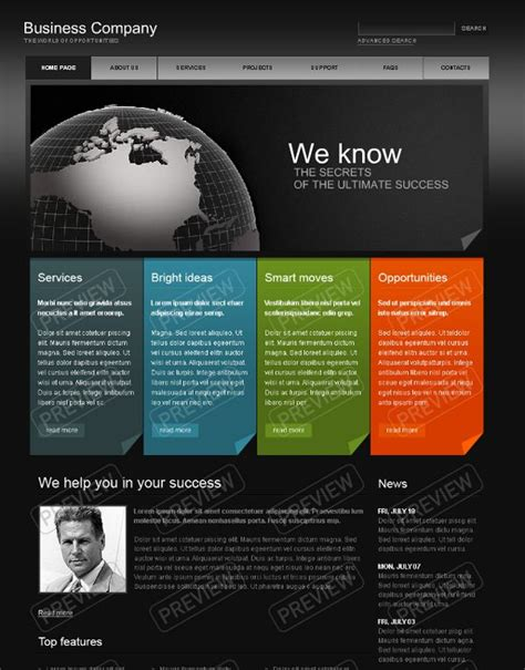 Business Website Design Template | Website Templates | Website Designs I Like | Pinterest ...