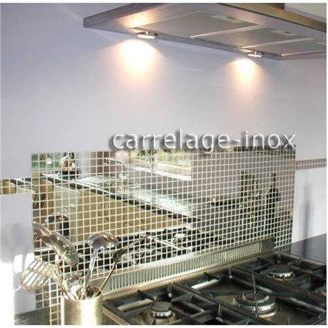 tole inox pour cuisine tole inox mosaique credence cuisine cm miroir 25