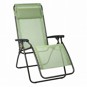 Fauteuil relax lafuma vert absinthe transat chilienne for Fauteuil relaxation lafuma