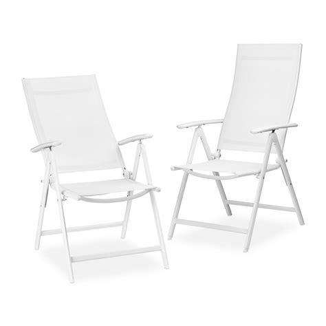 chaises pliables 2 chaises pliables d 39 extérieur blanches francky shop com