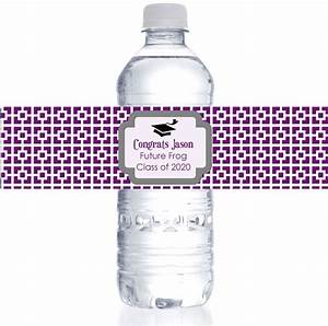 personalized square water bottle labels for graduation With cheap waterproof water bottle labels