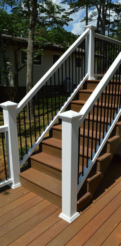 Outdoor Banister Railing by Inspirations Outdoor Balusters Lowes Stair Rails
