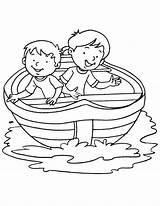 Coloring Boat Fishing Boy Printable Getcolorings sketch template