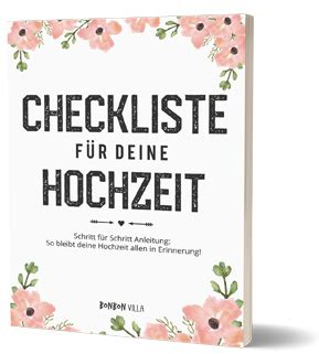 checkliste hochzeit  plant ihr schritt fuer schritt