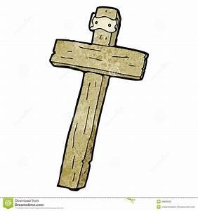 Cartoon Wood Cross Stock Photography - Image: 38066032