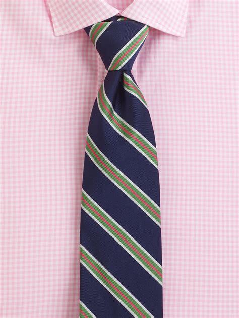 polo ralph lauren striped tie  blue  men navy lyst