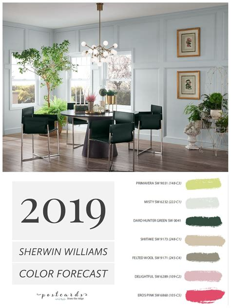 Interior Paint Colors Sherwin Williams by 2019 Paint Color Forecast From Sherwin Williams