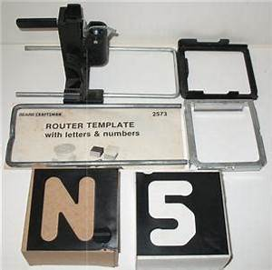 router lettering templates - craftsman router template set to rout upper case block