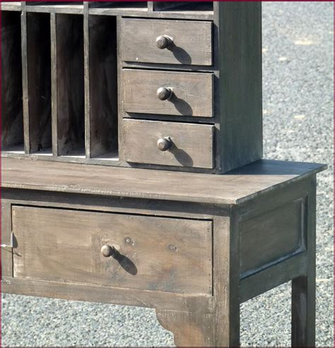 bureau rangé style ancien meuble bureau de poste range courrier